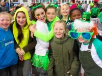 Scoil Eoin pupils enjoying the St Patrick's Day parade on Thursday.