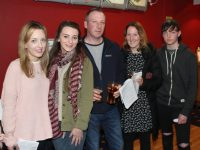 Sarah Donnellan, Erin Donnellan, Kevin Donnellan, Maureen O'Shea and Rachel Fortune at Spa National School's 'Night at the Dogs' on Saturday night. Photo by Lisa O'Mahony.