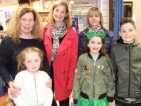 Treasa Walsh and Caragh Kelliher, Deirdre Walsh of Radio Kerry, Liz Locke, Isabel and Rory Clifford at the first birthday celebrations for the St Vincent de Paul shop on Castle Street. Photo by Dermot Crean