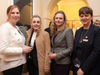 Siobhan Ní Mhathúna, Meadowlands Hotel; Michelle Diggins, Ballygarry House Hotel; Heather McIver, Meadowlands Hotel and Michele King, The Rose Hotel at the launch of the new Tralee tourism information booklet at the Ashe Memorial Hall on Friday evening. Photo by Dermot Crean