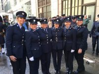 Tralee female Gardai attending the St Patrick's Day Parade in New York  Garda Lynda Brosnan , garda Helen Healy, Gda Claudine O Sullivan , Gda Eilís O Sullivan , Gda Ann Marie O Sullivan, & Gda Sarah Jennings. Tralee Garda Station