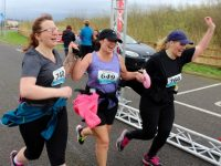 Anna Sheehy, Nina Mansfield and Helen Finn at the finish on Saturday afternoon. Photo by Dermot Crean