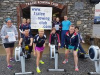 Tralee Rowing Club members and friends preparing for the Duathlon on Sunday.