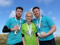 Daryl Byrne, Melanie Clancy and Josh Lowham at the Beast Challenge in Banna on Saturday afternoon. Photo by Dermot Crean