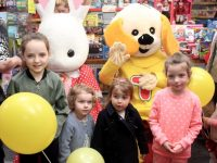 Children at the puppet show at Caballs Toymaster on Saturday morning. Photo by Dermot Crean