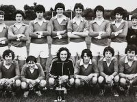 Castleisland U 18 Soccer team winners of the Kerry District League in 78/79. front left Tomy O'Connor, John Loadan, John Loughlin, Capt. Willie Don O'Connor, Rory Kilgannon, Stephen Reidy, and Connie Murphy, back left Canon Dan Herlihy PP.  Philip O'Connor, Jack O'Rourke, Con Hartnett, Philip Horan, Pat Tangney, Gerard Murphy, Denny Lyons, Domo Lyne, and Coach George Callaghan.