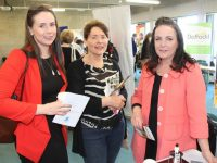 Miriam O'Sullivan, Anne Cleary and Niamh Savage at the Professional Practice Networking and Engagement Day at the IT Tralee on Friday. Photo by Lisa O'Mahony.