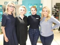 Karen Corridan, Jeanette Cronin, Rebecca Barry and Sharon Houlihan at Jeanette Cronin's Makeup masterclass at CH Chemists on Friday. Photo by Lisa O'Mahony.