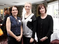 Siobhan Rivas May and Nicola Slye (PSC) and Breda Stack, the Declutter Therapist, at the Kerry Businesswomen's Network event in The Rose Hotel on Thursday. Photo by Dermot Crean