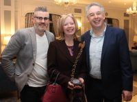 Shane O'Connor, Grainne McPolin and John Herlihy at the Kerry ETB Training Centre Presentation of Certificate Ceremony at the Rose Hotel on Thursday evening. Photo by Dermot Crean