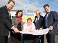 Pictured at the announcement of the consultants who will draw up the master-plan for the former Denny site, l-r: Aidan Healy (Director, Reddy A+U), Moira Murrell (Chief Executive, Kerry County Council), Mayor of Tralee Cllr Terry O'Brien, Mike Scannell (Tralee Municipal District Manager), Rob Keane (Design Team Leader, Reddy A+U).