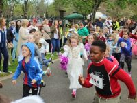 Taking off at the start of the Fancy Dress Fun Run on Saturday in the Town Park. Photo by Dermot Crean