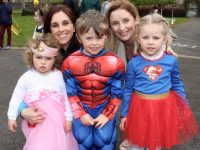 In front; Sarah and Michael Broughton and Olivia Leen with, at back, Catherine Broughton and Catriona Leen at the Fancy Dress Fun Run on Saturday in the Town Park. Photo by Dermot Crean