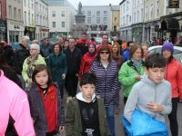 The 20th annual Tralee Good Friday Walk taking off from The Grand Hotel. Photo by Lisa O'Mahony.