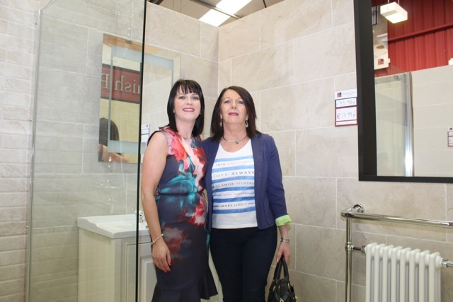 Photos world of tiles opens at the mile height traleetoday fiona higgins and aunt marie oconnor at the opening of world of tiles on saturday photo by dermot crean tyukafo