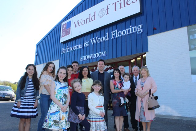 Photos world of tiles opens at the mile height traleetoday donal and fiona higgins with family at the opening of world of tiles on saturday photo by dermot crean tyukafo