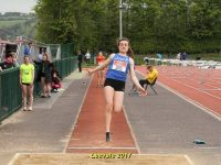 Aoibheann O'Brien Tralee Harriers AC in full action in the Senior Long Jump at teh Leevale Senior Open event