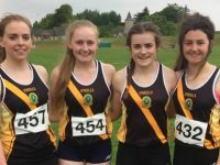 Aoife O'Carroll, Rachel Bowler, Aoibheann O'Brien and Orla O'Reilly Mercy Mounthawk's Senior 29yr old Record breaking Munster School Relay Team