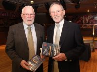 Martin Ferris and Billy Ryle at the launch of Billy's book, 'From Fenit Bathing Slip To The High Court' at the Grand Hotel on Monday evening. Photo by Dermot Crean