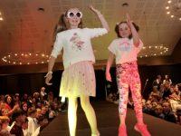Pupils on the runway at the Caherleaheen NS Fashion Show at the Ballyroe Heights Hotel on Thursday night. Photo by Dermot Crean
