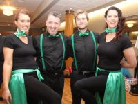 Juliette Rolls, Niall Ó Loingsigh, John Carmody and Susan Farrelly at the  Churchill GAA 'Strictly Come Dancing' event in the Ballyroe Heights Hotel on Sunday night. Photo by Dermot Crean