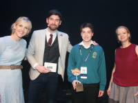 Student Cian McGrath from Mercy Mounthawk Secondary School, Co. Kerry is pictured at the 2017 Bord Gáis Energy Student Theatre Awards in Dublin. RTÉ 2FM presenter Eoghan McDermott hosted the special awards ceremony at the Bord Gá