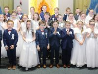The Listellick pupils who made their First Holy Communion at Our Lady and St Brendan's Church on Saturday morning. Photo by Dermot Crean