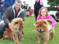 Yogi Bear...John Broderick with 'Yogi' and Faye O'Connor with 'Bear' at the Dog Show at the races in Ballybeggan on Saturday. Photo by Dermot Crean