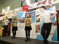 Dancers from the Oliver Hurley School Of Musical Theatre at the Bank of Ireland Enterprise Towns event on Friday. Photo by Dermot Crean