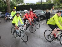 Taking off on the cycle in aid of Fenit Lifeboat on Saturday morning. Photo by Dermot Crean