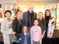 Anne Courtney, Shannan Howe, Cora Lee Howe, Rebecca Howe, Denis Courtney, Katie Howe and Amanda Howe at the official opening of the Fleadh Cheoil Chiarraí on Wednesday evening. Photo by Dermot Crean