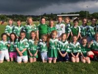 Under 8 girls who played a challenge game versus Glenbeigh Glencar on Thursday evening last. It was their very first game and there was so much excitement amongst parents and players !
