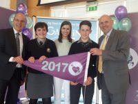 Gaelcholáiste Students Receive Gaelbhratach In Dublin