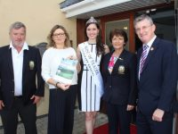 Launching the Tralee Golf Club Captains Charity Day at Pieta House on Wednesday were, from left; Men's Captain John Reen, Clinical Manager at Pieta House, Cora O'Brien, Rose of Tralee Maggie McEldowney, Lady Captain Margaret Murphy and Chief Executive of the Rose of Tralee International Festival, Anthony O'Gara. Photo by Dermot Crean