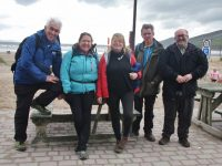 Kerry Camino members/ walk guides, Mike O'Donnell, Ingrid Boyle, Gillian Wharton, John Earley and Brian Fitzgerald at Sammy's, Inch.