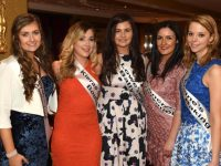 Kerry Rose of Tralee contestants Carol Lane, Castleisland, Catherine Rahilly, Lixnaw, Michaela Brosnan, Ballyduff, Katie Lucey, Listowel and Michelle O'Connor, Fossa,  at a meet and greet evening for the Rose hopefuls   in The  Liquid Lounge at The Killarney Grand on Saturday night. Picture: Eamonn Keogh