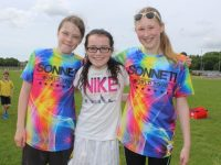 Lena Daly, Amy McCarthy, Mairead Guerin at the Listellick NS family fun day at Na Gaeil GAA pitch on Sunday. Photo by Dermot Crean