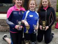 O'Connor girls Grace, lucy and Rebbeca cleaning up at Gneeveguilla Open Sports,