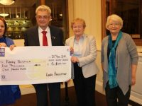 Presentation of Cheque to Kerry Person of the Year Ted Moynihan - L-R, K...