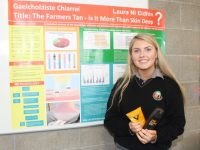 Laura Ní Eidhin of Gaelcholáiste Chiarraí at the Scifest 2017 event in IT Tralee on Tuesday. Photo by Dermot Crean