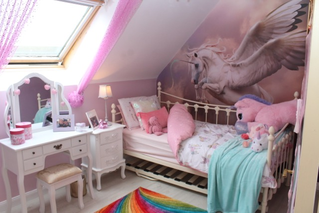 Sarah s new look bedroom. Share A Dream Brings Joy To Sarah With Unicorn Themed Bedroom