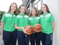 Mary O'Connell, Aoife Dillane, Rachel Kilgallen and Rebecca Conway at the launch of the Tralee International Children's Games team heading to Kaunas next month. Photo by Dermot Crean