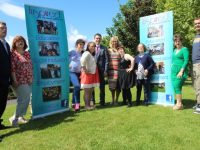 From left, Inspired members, David Malone, Sinead Joy, Niamh O'Connor, Labhaoise O'Connor, Jonathan Collins of Ballyroe Heights Hotel, Inspired volunteer Maree O'Connor, Breda O'Sullivan, Denise O'Mahony, Carmel Roche and Jack Dowey Kingston at the launch of the fashion show for Inspired at Ballyroe Heights Hotel on Friday afternoon. Photo by Dermot Crean