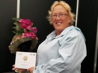 Kathleen Barrett, a tutor at Kerry ETB, who won a silver award at the Bloom Garden Festival.