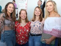 Miriam Leane, Katie McAuliffe, Emme Fitzgerald and Ashling Murphy at the Kerry GAA Night of Champions at Kingdom Greyhound Stadium on Friday night. Photo by Dermot Crean