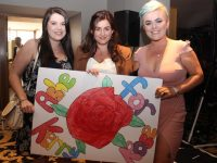 Sinead Reidy, Michelle Griffin and Maeve O'Donnell at the Kerry Rose 2017 selection at the Ballyroe Heights Hotel on Friday night. Photo by Dermot Crean