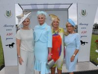 Winner of the Best Dressed Lady Competition at the Listowel Races was Margaret Hynes, with Aisling O'Loughlin, Orla Winters and Eilis Stack. Photo by Lisa O'Mahony.