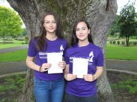 Úna O'Connell and Rachel Walsh who have begun fundraising for the Meningitis Research Foundation. Photo by Lisa O'Mahony.
