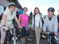 Susan Sugrue, Tiana Caplis, Anne McEllistrim and Caroline Lynch at the start of the Pedal In The Park event from Tralee Bay Wetlands on Friday evening. Photo by Dermot Crean