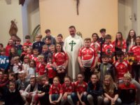 Some St Pats Juveniles with Fr Francis Nolan at the recent Club mass held in St Brendans Church Curaheen last Thursday